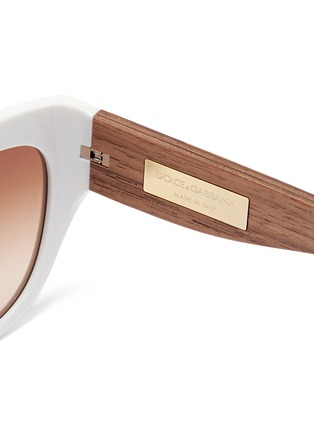 Dolce & Gabbana - Sicilian Carretto relief wood temple acetate butterfly sunglasses
