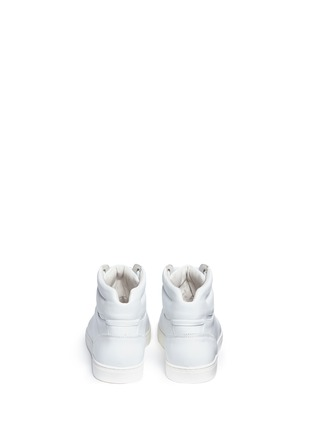Back View - Click To Enlarge - Dolce & Gabbana - Leather high top sneakers