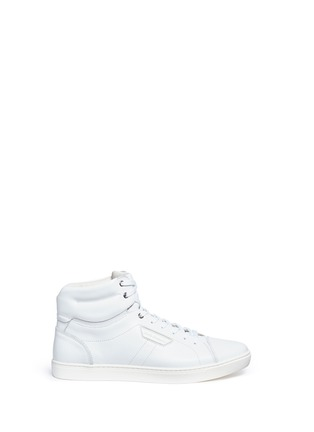 Main View - Click To Enlarge - Dolce & Gabbana - Leather high top sneakers