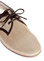 Perforated suede espadrille Derbies
