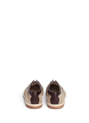 Back View - Click To Enlarge - Dolce & Gabbana - Perforated suede espadrille Derbies