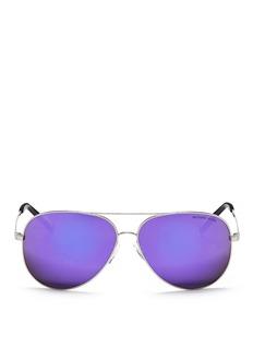MICHAEL KORS'Kendall I' metal aviator mirror sunglasses