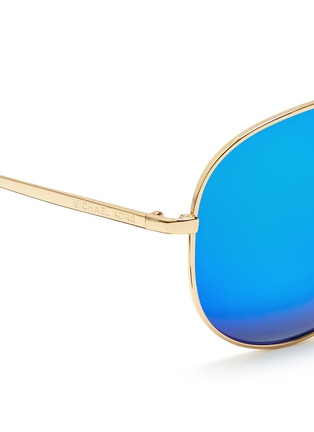 Detail View - Click To Enlarge - Michael Kors - 'Kendall I' metal aviator mirror sunglasses