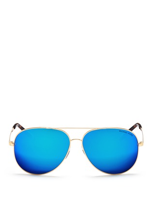 Main View - Click To Enlarge - Michael Kors - 'Kendall I' metal aviator mirror sunglasses