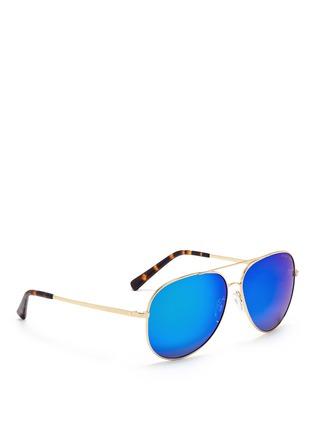 Michael Kors-'Kendall I' metal aviator mirror sunglasses