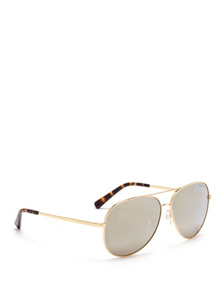 Figure View - Click To Enlarge - Michael Kors - 'Kendall I' metal aviator mirror sunglasses