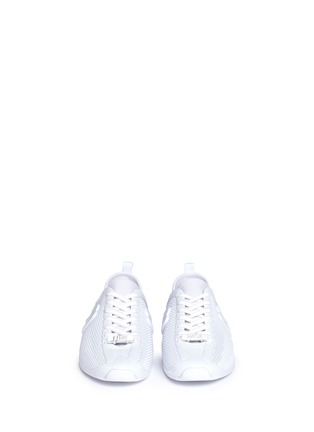 Front View - Click To Enlarge - Melissa - 'Love System Now' neoprene perforated PVC sneakers