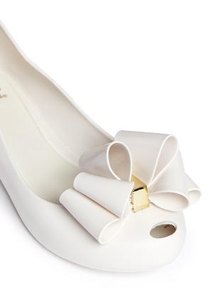 细节 - 点击放大 - MELISSA - 'Ultragirl Sweet Ballerina' bow kids flats