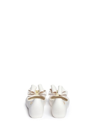 背面 - 点击放大 - MELISSA - 'Ultragirl Sweet Ballerina' bow kids flats