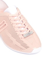 'Love System Now' neoprene perforated PVC sneakers