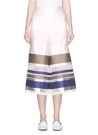 Main View - Click To Enlarge - ERIKA CAVALLINI - 'Keit' multi stripe silk blend culottes