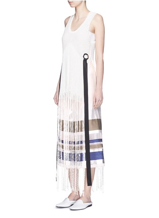 Figure View - Click To Enlarge - ERIKA CAVALLINI - 'Keit' multi stripe silk blend culottes