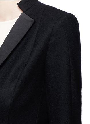细节 - 点击放大 - ANIRAC - 几何衣领羊毛西服外套