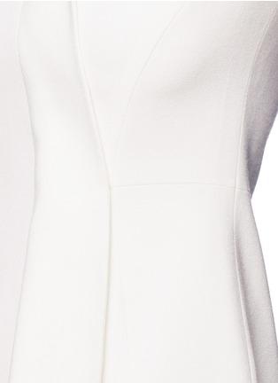 细节 - 点击放大 - ANIRAC - 不对称垂褶缀饰羊毛连衣裙