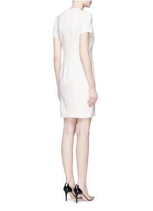 背面 - 点击放大 - ANIRAC - 不对称垂褶缀饰羊毛连衣裙