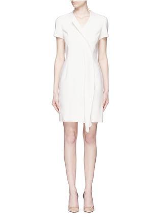 首图 - 点击放大 - ANIRAC - 不对称垂褶缀饰羊毛连衣裙
