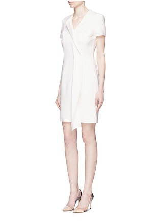 模特儿示范图 - 点击放大 - ANIRAC - 不对称垂褶缀饰羊毛连衣裙
