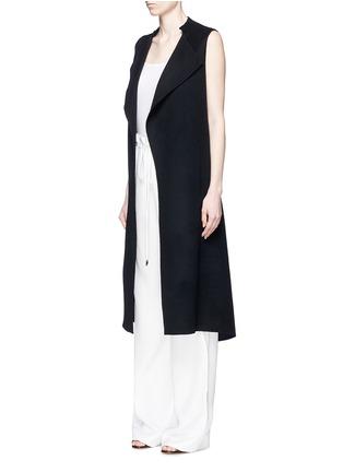 正面 - 点击放大 - ANIRAC - 羊毛混羊绒长款背心大衣