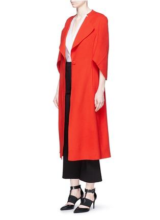 模特儿示范图 - 点击放大 - ANIRAC - 羊毛混羊绒长款大衣