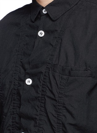 Detail View - Click To Enlarge - UNDERCOVER - Cotton-tencel blend shirt