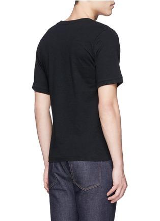 背面 - 点击放大 - JOHNUNDERCOVER - Skull embroidery cotton T-shirt