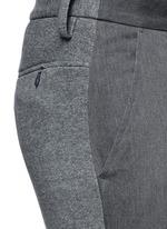 Mixed media slim fit jogging pants