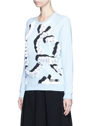 Front View - Click To Enlarge - KENZO - 'Curvy Lines' embellished sweatshirt