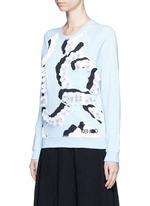 'Curvy Lines' embellished sweatshirt