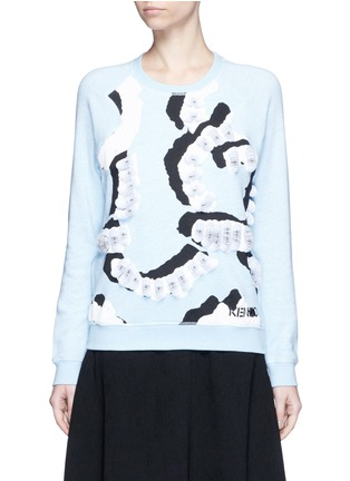 Main View - Click To Enlarge - KENZO - 'Curvy Lines' embellished sweatshirt