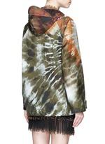 Masai bead embroidery tie dye print hooded jacket