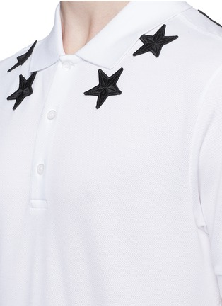 Detail View - Click To Enlarge - Givenchy - Star appliqué polo shirt