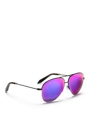 模特儿示范图 - 点击放大 - VICTORIA BECKHAM - Classic镜面飞行员太阳眼镜