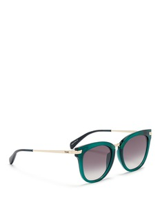 TOMS'Adeline' rounded cat eye acetate sunglasses