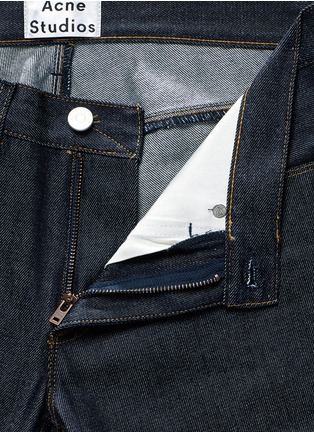 Detail View - Click To Enlarge - Acne Studios - 'Max Raw' cotton slim fit jeans
