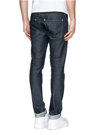 Back View - Click To Enlarge - Acne Studios - 'Max Raw' cotton slim fit jeans
