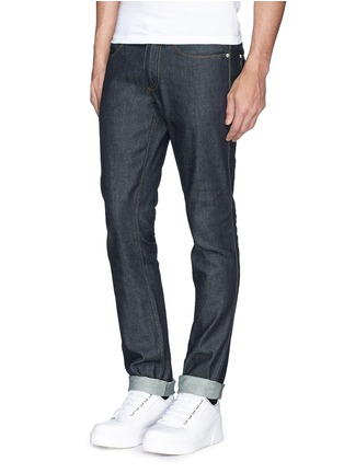 Figure View - Click To Enlarge - Acne Studios - 'Max Raw' cotton slim fit jeans