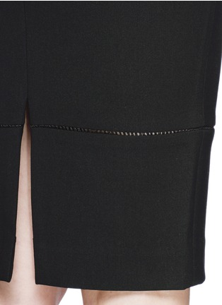 Detail View - Click To Enlarge - Elizabeth and James - 'Eden' ladder stitch embroidery pencil skirt