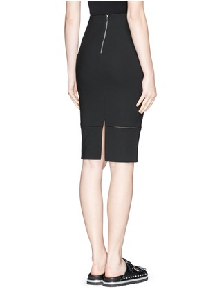 Back View - Click To Enlarge - Elizabeth and James - 'Eden' ladder stitch embroidery pencil skirt