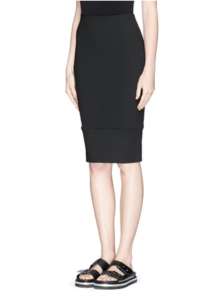 Front View - Click To Enlarge - Elizabeth and James - 'Eden' ladder stitch embroidery pencil skirt