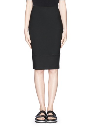 Main View - Click To Enlarge - Elizabeth and James - 'Eden' ladder stitch embroidery pencil skirt