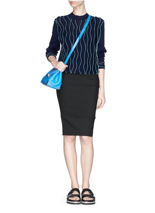 Figure View - Click To Enlarge - Elizabeth and James - 'Eden' ladder stitch embroidery pencil skirt
