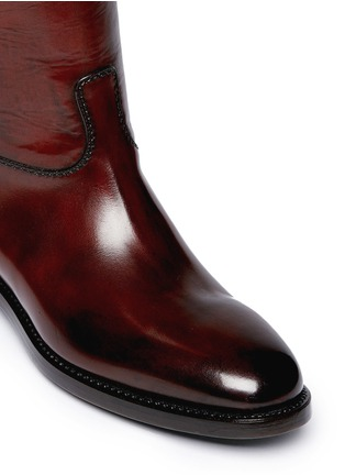 Detail View - Click To Enlarge - ALBERTO FASCIANI - Top strap leather riding boots