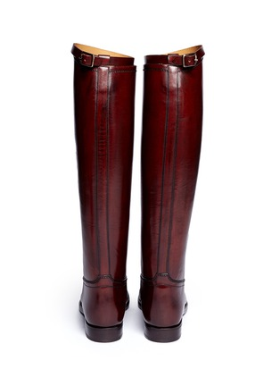 Back View - Click To Enlarge - ALBERTO FASCIANI - Top strap leather riding boots