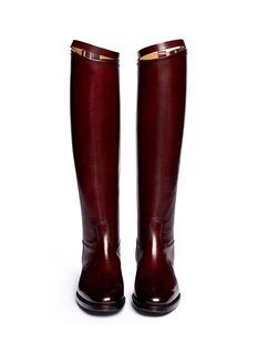 ALBERTO FASCIANITop strap leather riding boots