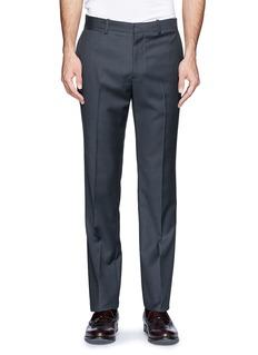 THEORY'Marlo' wool straight leg pants