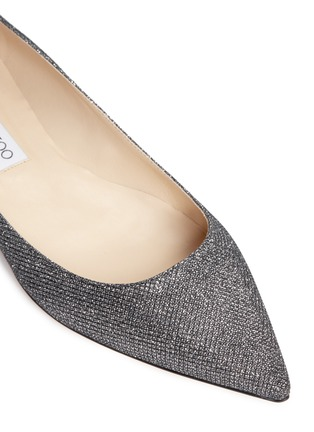 Detail View - Click To Enlarge - Jimmy Choo - 'Alina' lamé glitter flats