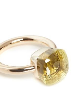 细节 - 点击放大 - POMELLATO - NUDO 18K柠檬晶戒指