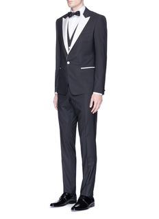 Dolce & Gabbana'Martini' contrast repp trim 3-piece suit