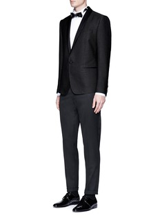 Dolce & Gabbana'Martini' dart stitch basketweave tuxedo blazer