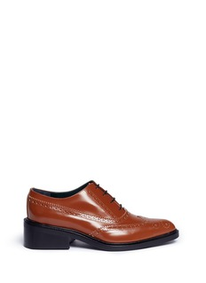 Mulberry Angular heel leather Oxfords
